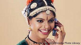 Indian woman on cell phone
