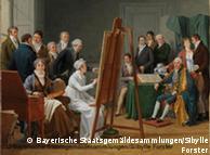 巴伐利亚国家美术馆收藏的玛丽-加布里埃尔•卡佩(Marie-Gabrielle Capet)的油画作品:画室景象,1808年