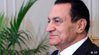 Mubarak:Noch ist er offenbar nicht bereit, die Macht abzugeben (Foto: AP)