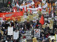 Διαδηλώσεις στο Δουβλίνο για τις περικοπές