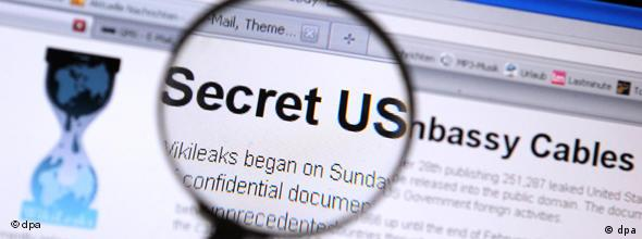 Wikileaks - Internetseite Cablegate NO FLASH