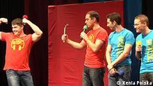 Mannschaft aus Stuttgart tritt auf im Halbfinale des Klubs der Witzigen und Schlagfertigen. Copyright: Xenia Polska