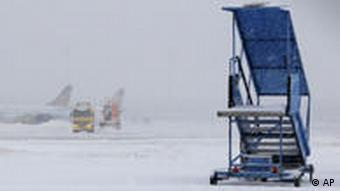 A snow-covered runway