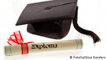A graduation hat with a diploma