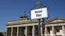 Brandenburg Gate Berlin and Pariser Platz sign 8074100 Stephen Finn - Fotolia 2008