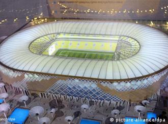 model of Qatar University stadium  Photo: EPA/STRINGER