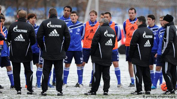 Schalke players at a training session