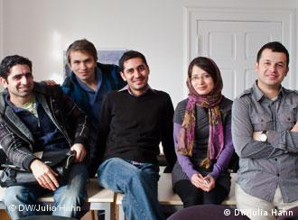 Afghan students in Erfurt