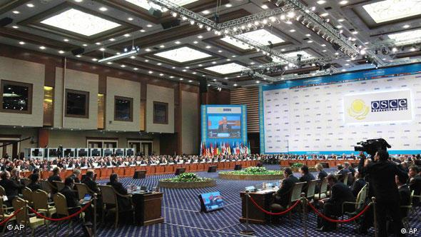 Nazarbayev hosted an OSCE summit in Astana, Kazakhstan's capital, in 2010
