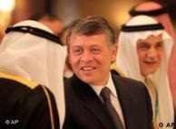 ملک عبدالله  دوم، پادشاه اردن (وسط)، از جمله حاضران در نشست امنیتی منامه