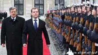 Dimitri Medvedev and Bronislaw Komorowski