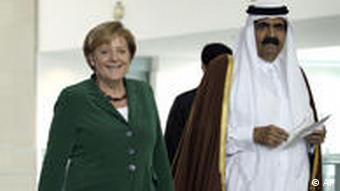 Merkel with the Emir of Qatar