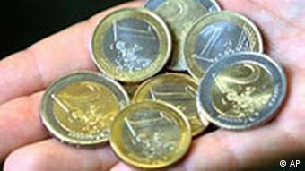 Euros mit Nickel