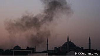 Pollution in the sky above Istanbul