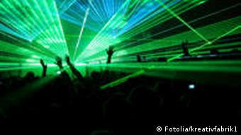 Laser-Licht in der Disco Foto: DW-Archiv