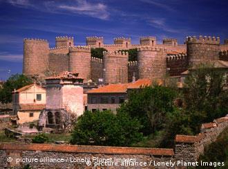 The city walls of Avila