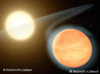 Artist's concept of gas planet WASP-12b