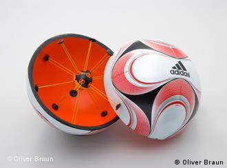 Soccer ball with chip
