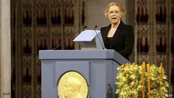Die norwegische Schauspielerin Liv Ullmann während der Zeremonie für den Friedensnobelpreisträger Liu Xiaobo in Oslo (Foto: AP)