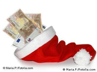 A Santa hat with money shoved inside