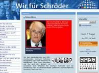 Screenshot del apoyo otorgado al canciller Gerhard Schröder.