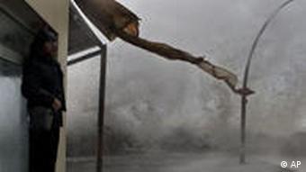 Ein Regensturm in Israel (Foto: AP)