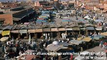 Marrakesch Marokko Djemaa el Fna Marktplatz