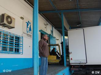 Lager der Nahrungsmittelbank gegen den Hunger in Lissabon (Foto: DW)