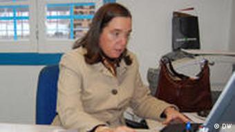 Isabel Jonet, Gründerin und Leiterin der Nahrungsmittelbank in Lissabon (Foto: DW)