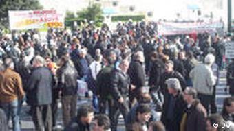 Streiks in Athen Griechenland