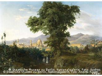 'Olhar sobre Florença', tela de Wilhelm Ahlborn na Antiga Galeria Nacional
