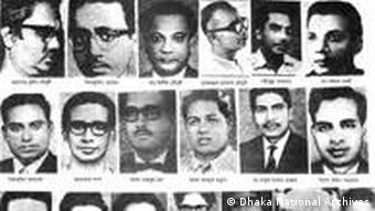 Pakistani troops killed many Bengali intellectuals in the 1971 war that led to Bangladesh's independence