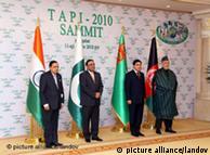 رهبران  ترکمنستان، افغانستان، پاکستان و هندوستان پس از امضای قرارداد خط لوله  تاپی
