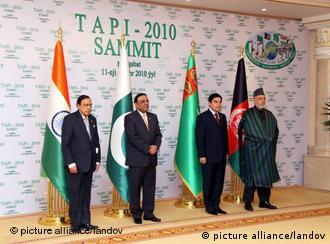 روسای چهار کشور افغانستان، ترکمنستان، پاکستان و هندوستان توافقنامهی تاپی را در ۱۱ دسامبر سال ۲۰۱۰ امضا کردند.
