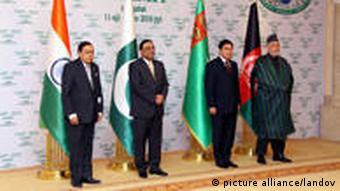 دیدار رهبران ترکمنستان، افغانستان، پاکستان و هند در عشقآباد