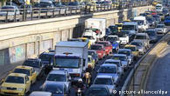 Traffic jam in Athens