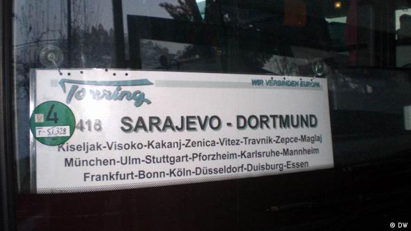 Autobus na redovnoj liniji Sarajevo - Dortmund