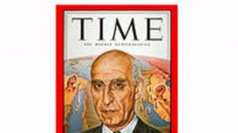 Time Cover Mohammad Mosaddegh: The former prime minister of Iran. Photo: Time