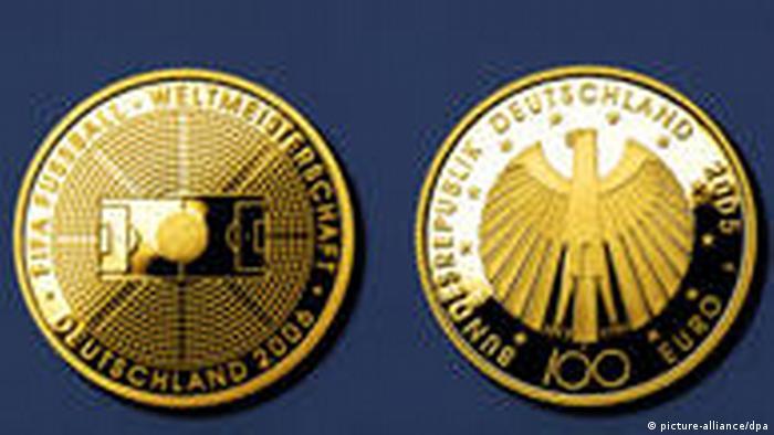 100 Euro Fußball-WM Münzen