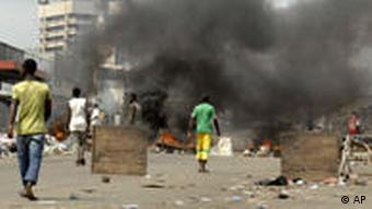 Supporters of opposition candidate Alassane Ouattara take to the streets of Abidjan, Ivory Coast, December 16 2010