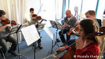 A group rehearsal session at the Barenboim-Said Foundation's music academy in Ramallah