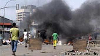 The scene of the bloody clashes between supporters of Alassane Ouattara and Laurent Gbagbo