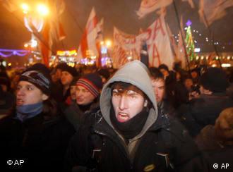 Protestors in Minsk