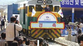 Zugverbindung zwischen Nord- und Südkorea weiderhergestellt
