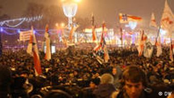 Protests in Minsk in December