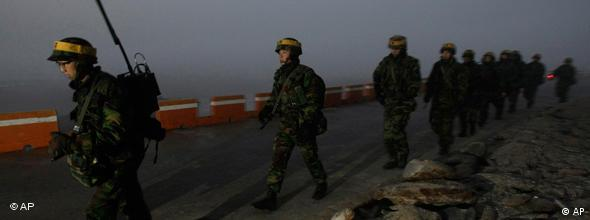 South Korean marines went ahead with live-fire drills despite repeated warnings from Pyongyang