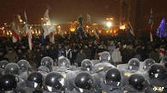Акция протеста в Минске в День солидарности