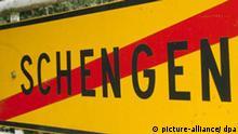 Schengen Ortsschild