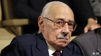 Former Argentine dictator Jorge Rafael Videla attends the last day of his trial in Cordoba, Argentina, Wednesday Dec. 22, 2010. Videla, 85, was sentenced to life in prison Wednesday for the torture and murder of 31 prisoners in 1976, the first conviction for the military junta leader, who led the military coup that installed Argentina's 1976-1983 dictatorship, in 25 years of democracy. (AP Photo/Natacha Pisarenko)