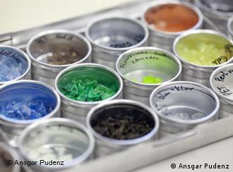 Kunststoffpartikel für Recycling (Foto: Ansgar Pudenz)